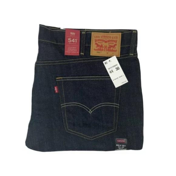 Levis Jeans 44 x 30 Blue Jeans 541 Jeans Raw New